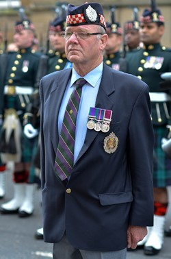 Argyll and Sutherland Highlanders Veteran - Farewell Parade Stirling 2013