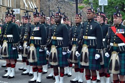 Argyll and Sutherland Highlanders Await Inspection - Farewell Parade Stirling 2013