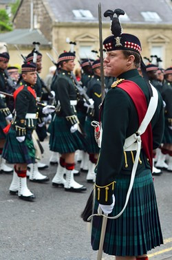 Argyll and Sutherland Highlanders Officer - Farewell Parade Stirling 2013