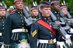 Argyll and Sutherland Highlanders Soldiers- Farewell Parade Stirling 2013