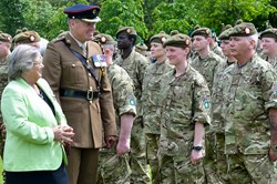Marjory McLachlan Lord Lieutenant of Stirling and Falkirk - Stirling Armed Forces Day 2013