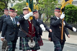 Highland Light Infantry Standard - Armed Forces Day Glasgow 2013