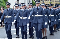 Universities of Glasgow and Strathclyde Air Squadron on Parade - Glasgow Armed Forces Day 2013