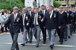 Royal Scots Dragoon Guards Veterans - Parade on AFD Glasgow 2013