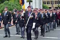 Parachute Regiment Veterans - George Square Glasgow AFD 2013