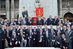 Royal Scots Dragoon Guards Group Photo - Cenotaph George Square Glasgow AFD 2013