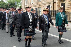 Highland Light Infantry Veterans - Armed Forces Day Glasgow 2013