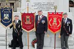 Royal Scots Dragoon Guards Association Standards - Armed Forces Day Glasgow 2013