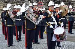 The Royal Marines Band Scotland in Glasgow Cathedral Precinct 2013