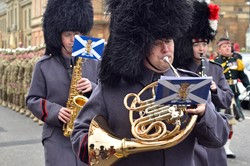 Sergeant Tony Woods Band Royal Regiment of Scotland - Royal Highland Fusiliers (2 Scots) Freedom Parade in Ayr
