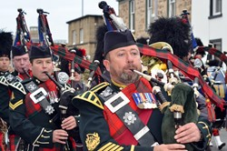 Pipes and Drums - Royal Highland Fusiliers (2 Scots) Freedom Parade in Ayr