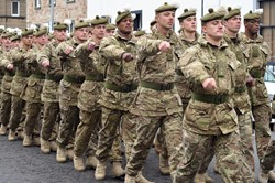 Royal Regiment of Scotland Freedom Parade in Ayr