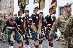 Colour Party of the Royal Highland Fusiliers - Freedom Parade Ayr 2013