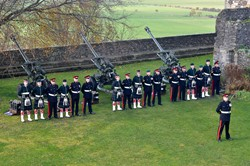 105 Regiment Artillery (212 Battery) and OTC - 21 Gun Salute at Stirling Castle