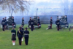 Fire Gun No 1 - 21 Gun Salute at Stirling Castle