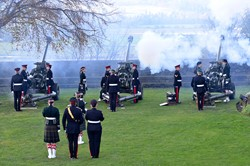 Gun No 1 Fired - 21 Gun Salute at Stirling Castle