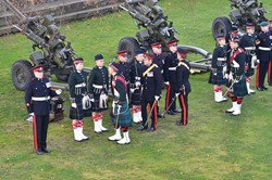 21 Gun Salute at Stirling Castle - 14 November 2013