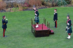 Lieutenant General A J N Graham - 21 Gun Salute at Stirling Castle