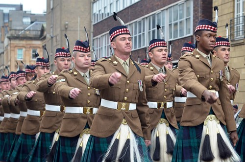 Royal Highland Fusiliers - Homecoming Parade Glasgow