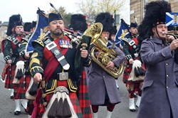 Military Band - Royal Highland Fusiliers Parade in Glasgow