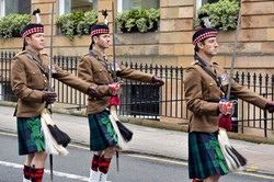 Lieutenant Colonel Robin Lindsay - Royal Highland Fusiliers Parade in Glasgow