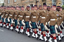 Royal Highland Fusiliers Homecoming Parade Glasgow