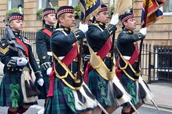 Colour Party - Royal Highland Fusiliers Parade Glasgow 2013
