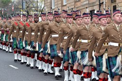 Royal Highland Fusiliers Parade 2013