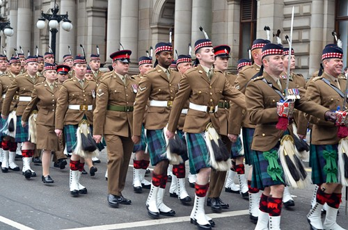 Royal Highland Fusiliers - George Square Glasgow 2013