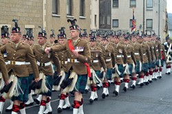 Royal Scots Borderers (1 Scots) - Farewell Parade in Prestonpans