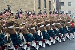 Royal Scots Borderers (1 Scots) Royal Regiment of Scotland - Farewell Parade in Prestonpans