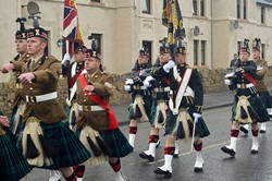 Royal Scots Borderers (1 Scots) Colour Party - Parade Prestonpans