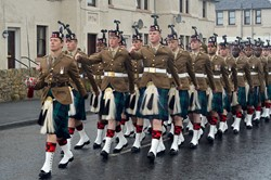 Royal Scots Borderers (1 Scots) - March in Prestonpans