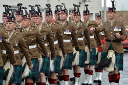 Royal Scots Borderers - Farewell Parade Prestonpans