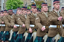 Royal Scots Borderers (1 Scots) - Parade in Prestonpans