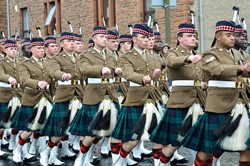 Royal Scots Borderers (1 Scots) Parade