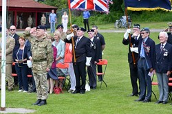 Flag Raising at Armed Forces Day 2014 East Renfrewshire (Giffnock)