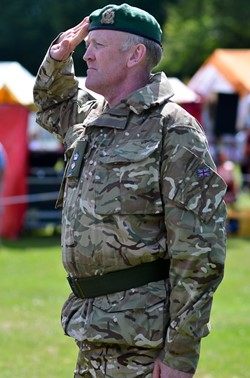 Officer Salutes - Armed Forces Day 2014 East Renfrewshire