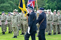 Colours at the Parade - Armed Forces Day 2014 East Renfrewshire