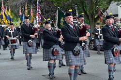 Isle of Cumbrae Pipe Band - Armed Forces Day Stirling 2014