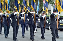 Royal British Legion Standard Bearers - Armed Forces Day 2014 Stirling