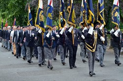Royal Naval Association Standard Bearers - Armed Forces Day 2014 Stirling