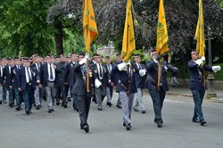 Argyll & Sutherland Highlanders Standards - Armed Forces Day 2014 Stirling