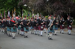 Biggar & District RBL Pipe Band - Armed Forces Day 2014 Stirling 2014