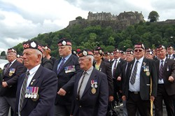 Argyll & Sutherland Highlanders Veterans - Armed Forces Day 2014 Stirling 2014