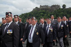 Argyll & Sutherland Highlanders Veterans Parade in Stirling
