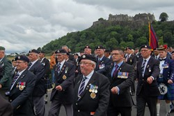 Veterans March in Stirling on Armed Forces Day 2014