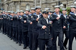 Royal Navy Parade - Glasgow Armed Forces Day 2014