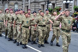 Soldiers on Parade - Glasgow Armed Forces Day 2014