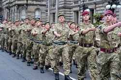 Soldiers March in Glasgow - Armed Forces Day 2014
